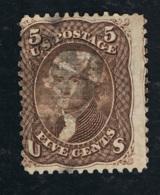 1867 Thomas Jefferson Mi US 19W Sn US 95 Yt US 21b Stamped O - 1847-99 Unionsausgaben