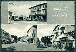 CARTOLINA - CV1339 JESOLO (Venezia VE) Lido, Con 3 Vedutine, FG, Viaggiata 1960, Ottime Condizioni - Venezia