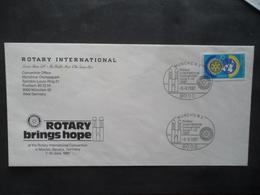 FDC Rotary Brings Hope 09/6/1987 YT 1159 - [7] République Fédérale