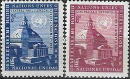 1958 - CENTRAL HALL LONDON - Michel Nr. 68-69 = 0.50 € - Ungebraucht