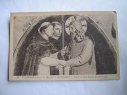 CPA ITALIE  FLORENCE (Musée S. Marco) ANGELICO Jésus Et Deux Saints Dominicains TBE - Firenze