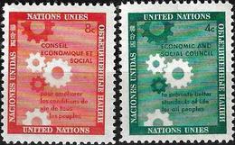 1958 - ECONOMIC AND SOCIAL COUNCIL - Michel Nr. 72-73 = 0.50 € - New York -  VN Hauptquartier