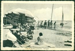 CARTOLINA - CV653 JESOLO (Venezia VE) Lido Spiaggia, FG, Viaggiata 1954, Ottime Condizioni - Venezia