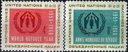 1959 - WORLD REFUGEE YEAR - Michel Nr. 82-83 = 0.50 € - New York -  VN Hauptquartier