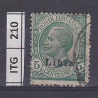 ITALIA COLONIE  1912LIBIA Ordinaria 5 C.usato - Libya