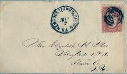 ESTADOS UNIDOS , SOBRE CIRCULADO A CHESTER - 1847-99 Emisiones Generales