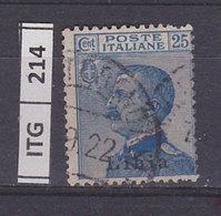ITALIA COLONIE  1912LIBIA Ordinaria 25 C.usato - Libya