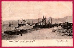 Trinidad - St. Vincent Wharf - Port Of Spain - B.W. J. - Voilier - Futs - Tonneaux - Animée - ADAMSON Co - Trinidad