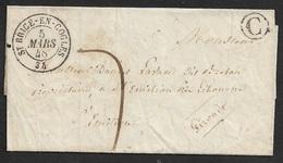 1848 - LSC - St. BRICE EN COGLES ( ILLE ET VILAINE ) - BOITE RURAL C - BELLE FRAPPE - 1801-1848: Précurseurs XIX