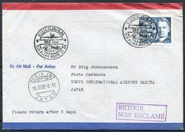 1982 Sweden Japan SAS First Flight Cover Stockholm - Tokyo. Polar - Airmail