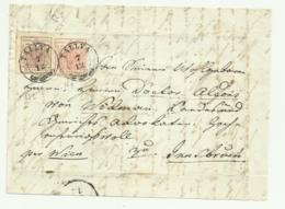 FRANCOBOLLI DA 3 E 6 KREUZER TALLYA 1852 SU FRONTESPIZIO - Oblitérés