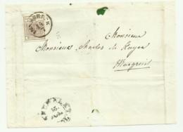 FRANCOBOLLO 6 KREUZER INNSBRUCK 1857   SU FRONTESPIZIO - Gebraucht