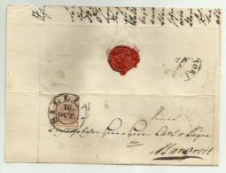 FRANCOBOLLO 6   KREUZER SILLIAN   1852 CON SIGILLO CERALACCA INTEGRO  SU FRONTESPIZIO - Usati