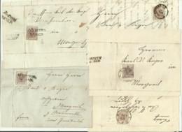 10 FRANCOBOLLI DA 6 KREUZER VEDI CITTA' DAL 1852 AL 1856 SU FRONTESPIZIO - Oblitérés