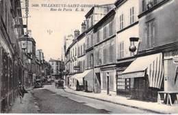 94 - VILLENEUVE SAINT GEORGES : Rue De Paris ( Commerces ) - CPA - Val De Marne - Villeneuve Saint Georges