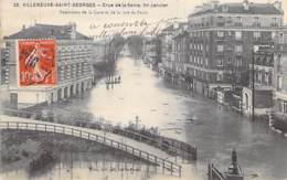 94 - VILLENEUVE SAINT GEORGES - Crue De La Seine 1901 - Panorama De La Gare Et De La Rue De Paris - CPA - Val De Marne - Villeneuve Saint Georges