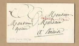 LAC Chambre Des Pairs De Paris Vers Pontoise Taxe 2 Décimes - 1801-1848: Precursors XIX
