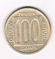 100 DINAR 1989 JOEGOSLAVIE /1105/ - Yougoslavie