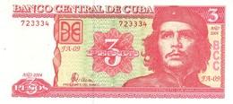 Cuba P.127   3 Pesos 2004  Unc - Cuba
