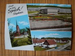 Gruß Aus Spich, Siegkreis, 3 Ansichten, Gelaufen - Troisdorf