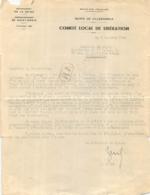 COMITE LOCAL DE LA LIBERATION  10/1945  PRESIDENT DU C.L.L.  AU SECRETAIRE DE L'U.D.S.R. - 1939-45