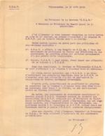 CEUX DE LA RESISTANCE COURRIER VILLEMOMBLE 08/1945  AU PRESIDENT DU COMITE LOCAL DE LA LIBERATION - 1939-45