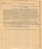 UNION DEMOCRATIQUE ET SOCIALISTE DE LA RESISTANCE  VILLEMOMBLE 10/1945 AU PRESIDENT DU COMITE LOCAL DE LA LIBERATION - 1939-45