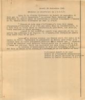 UNION DEMOCRATIQUE ET SOCIALISTE DE LA RESISTANCE  COMITE LOCAL DE LA LIBERATION   PARTI COMMUNISTE  09/1945 - 1939-45