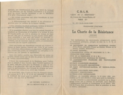 CEUX DE LA RESISTANCE LA CHARTE DE LA RESISTANCE  63 AV DES CHAMPS ELYSEES PARIS 8em - 1939-45