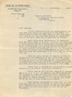 CEUX DE LA RESISTANCE 02/1946  RESISTANCE VILLEMOMBLE  MAX POULIN ET CHARLES RENAUD ET LE LEUCH VOIR LE P.S. - 1939-45