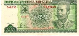 Cuba P 116  5 Pesos 209 Xf - Cuba