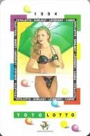 GAMBLING LOTTERY FOOTBALL POOL * WOMAN GIRL EROTIC SEXY * HORSESHOE UMBRELLA * CALENDAR * Szerencsejatek 1994 * Hungary - Calendari