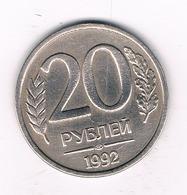 20 ROUBEL 1992 RUSLAND /1112/ - Russie