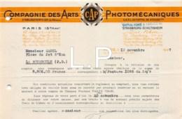 12-0762   1947  COMPAGNIE DES ARTS PHOTOMECANIQUES A PARIS - M. GAREL A LA BOURBOULE - France