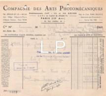 12-0763   1947  COMPAGNIE DES ARTS PHOTOMECANIQUES A PARIS - M. GAREL A LA BOURBOULE - France
