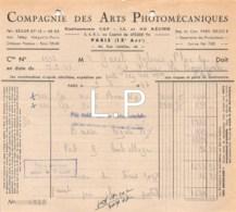12-0764   1947  COMPAGNIE DES ARTS PHOTOMECANIQUES A PARIS - M. GAREL A LA BOURBOULE - France