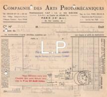12-0765   1947  COMPAGNIE DES ARTS PHOTOMECANIQUES A PARIS - M. GAREL A LA BOURBOULE - France