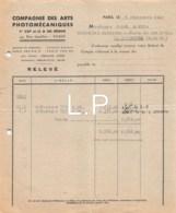 12-0766   1947  COMPAGNIE DES ARTS PHOTOMECANIQUES A PARIS - M. GAREL A LA BOURBOULE - France