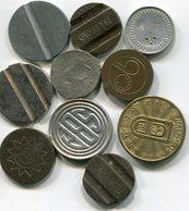LOTE 10 DIFERENTES FICHAS, COSPELES, MEDALLAS. DIFERENTES MATERIALES, TAMAÑOS. ARGENTINA. SOLD AS IS - LILHU - Fichas Y Medallas