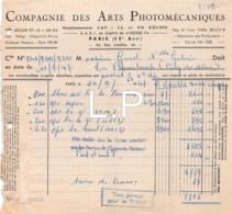 12-0767   1947  COMPAGNIE DES ARTS PHOTOMECANIQUES A PARIS - M. GAREL A LA BOURBOULE - France
