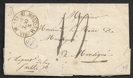 1836 - LAC  MONT DAUPHIN ( HAUTES ALPES ) - Lettre De La Mairie - Contenue Hopital Militaire - Signé Par Le Maire - RARE - 1801-1848: Précurseurs XIX