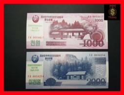 KOREA NORTH 1.000 1000 2.000 2000 Won 2018  P. NEW *COMMEMORATIVE* UNC - Corée Du Nord