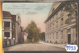 9993 POLOGNE  CPA KATTOWITZ REICHSBANK 1920 - Polonia