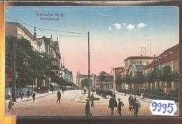 9995 POLOGNE  CPA  KATTOWITZ BAHNHOFSTRASSE 1920 - Polonia