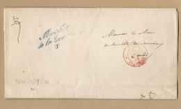LAC Ministère De La Guerre TAD Rouge Paris Franchise 21 Mars 1859 Pour Le Maire De Limoux - 1849-1876: Classic Period