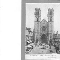 Chalon Sur Saône.Cathédrale St Vincent.Le Marché - Chalon Sur Saone