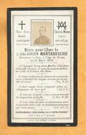 IMAGE GENEALOGIE FAIRE PART AVIS DECES  ABBE MARTARESCHE 1845 1876 - Décès