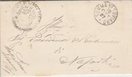 Somma Vesuviana. 1907. Annullo Grande Cerchio SOMMA VESUVIANO,  Su Franchigia Con Testo - 1900-44 Vittorio Emanuele III