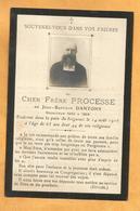 IMAGE GENEALOGIE FAIRE PART AVIS DECES  FRERE PROCESSE DANTONY RECRUTEUR 1900 1904 - Décès