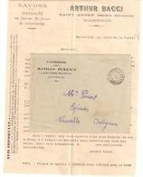 MARSEILLE PP IMPRIMES Lettre Entête Savonnerie BACCI Avec Courrier D'information Ob 21 Mai 1920 - Marcophilie (Lettres)